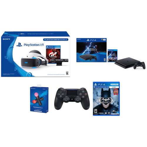 Sony Star Wars Battlefront II PlayStation 4 Bundle Kit with PlayStation VR Gran Turismo Sport Bundle, Batman: Arkham VR & Accessories