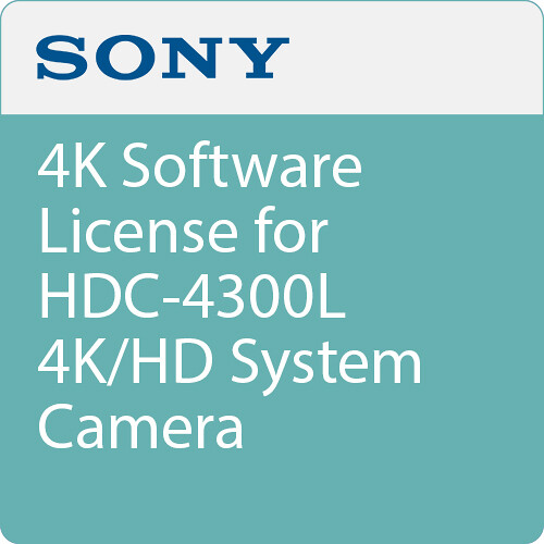 Sony 4K Software License for HDC-4300L 4K/HD System Camera