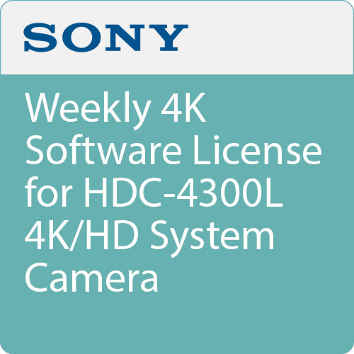 Sony Weekly 4K Software License for HDC-4300L 4K/HD System Camera