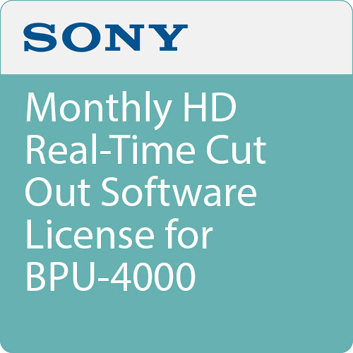Sony Monthly HD Real-Time Cut Out Software License for BPU-4000