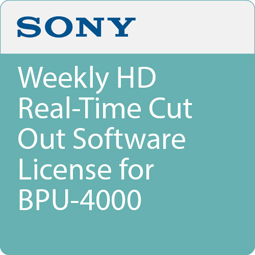 Sony Weekly HD Real-Time Cut Out Software License for BPU-4000