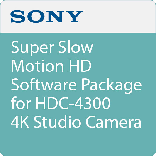 Sony Super Slow Motion HD Software Package for HDC-4300 4K Studio Camera