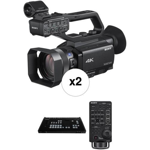 Sony Two PXW-Z90V 4K Camcorder Kit with MCX-500 Switcher