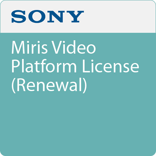 Sony Miris Video Platform License (Renewal)
