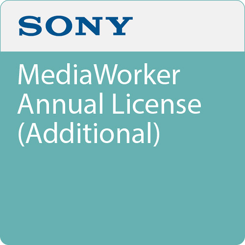 Sony MediaWorker Annual License (Additional)