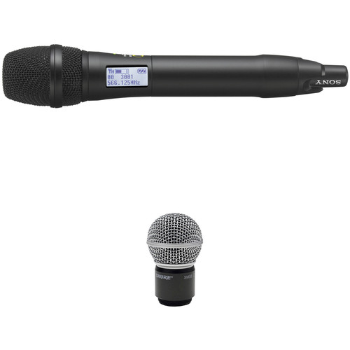 Sony UTX-M03 Integrated Digital Handheld Wireless Mic Transmitter With SM58 Cartridge Kit (UHF Channels 14/25: 470 to 542 MHz)