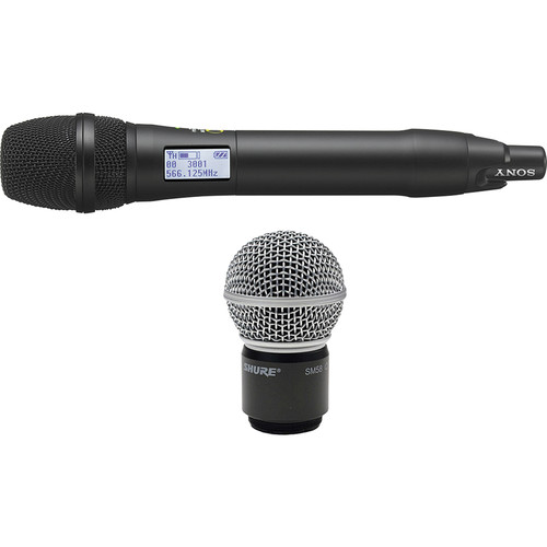 Sony UTX-M03 Integrated Digital Handheld Wireless Mic Transmitter With SM58 Cartridge Kit (UHF Channels 30/36 and 38/41: 566 to 608 and 614 to 638 MHz)
