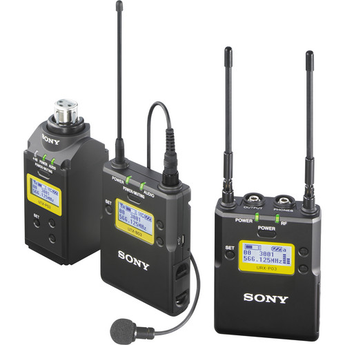 Sony UWP-D16 Integrated Digital Plug-on & Lavalier Combo Wireless Microphone System (UHF Channels 30/36 and 38/41: 566 to 608 and 614 to 638 MHz)