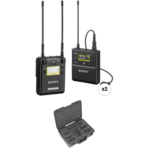 Sony UWP-D 2-Person Camera-Mount Wireless Omni Lavalier Microphone System Kit (UC25: 536 to 608 MHz)