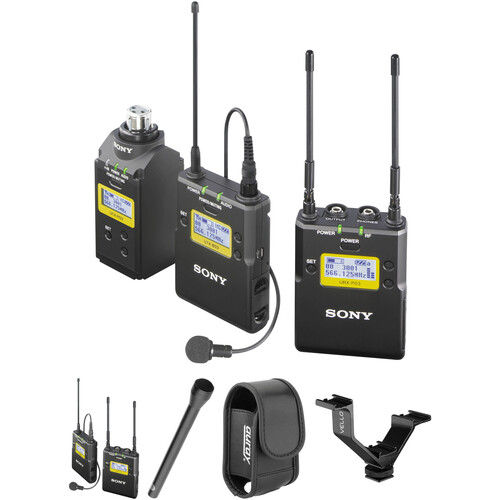 Sony UWP-D16 UHF Dual Wireless ENG Basic Kit (Ch 14/25: 470 to 542 MHz)