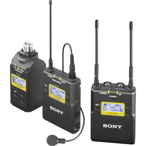Sony UWP-D16 Integrated Digital Plug-on & Lavalier Combo Wireless Microphone System (UHF Channels 25/36: 536 to 608 MHz)