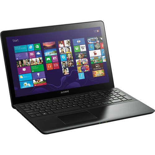 """Sony VAIO Fit 15 SVF15A16CXB 15.5"""" Multi-Touch Laptop Computer (Steel Black)"""