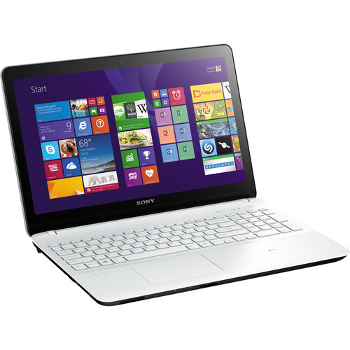 """Sony VAIO Fit 15E SVF1532ACYW 15.5"""" Multi-Touch Notebook Computer (White)"""