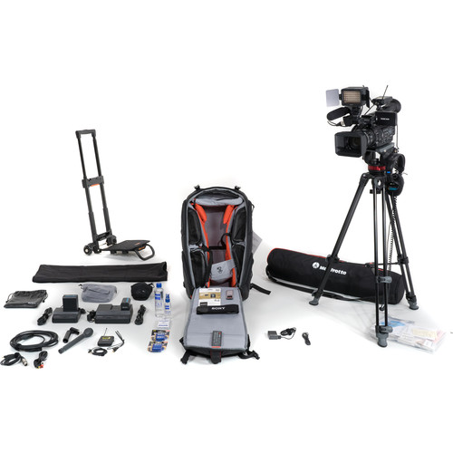 Sony PXW-X200 Video Journalist Kit with Backpack, Trolley, Wireless Microphone System, and Tripod