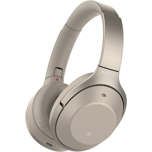 Sony 1000XM2 Wireless Noise-Canceling Headphones (Gold)
