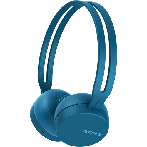 Sony WH-CH400 Wireless On-Ear Headphones (Blue)