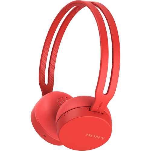 Sony WH-CH400 Wireless On-Ear Headphones (Red)