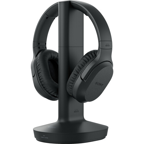 Sony WHRF400 Wireless Noise Canceling Headphones with Microphone (Black)