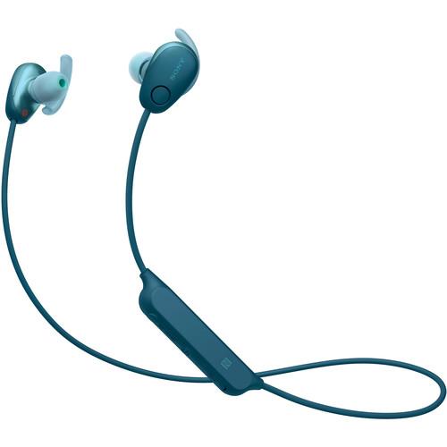 Sony WI-SP600N Wireless Noise-Canceling In-Ear Sports Headphones (Blue)