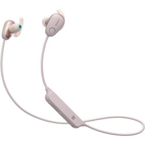 Sony WI-SP600N Wireless Noise-Canceling In-Ear Sports Headphones (Pink)