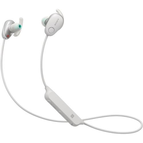 Sony WI-SP600N Wireless Noise-Canceling In-Ear Sports Headphones (White)