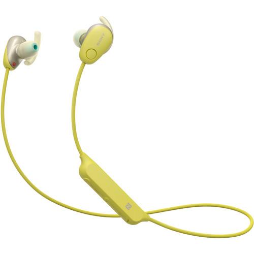 Sony WI-SP600N Wireless Noise-Canceling In-Ear Sports Headphones (Yellow)