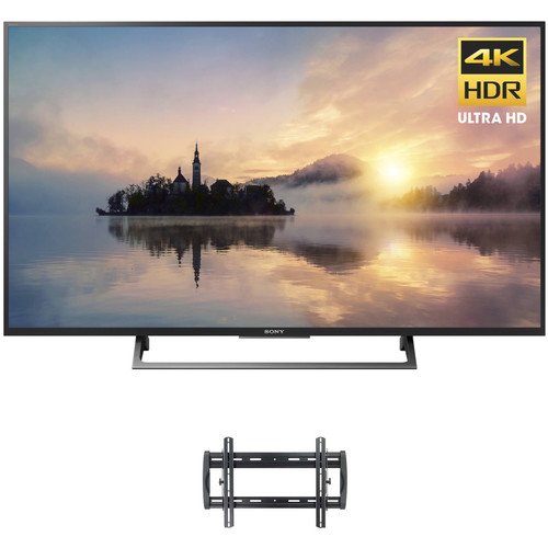 """Sony X720E-Series 55""""-Class HDR UHD Smart LED TV and Tilting Wall Mount Kit"""