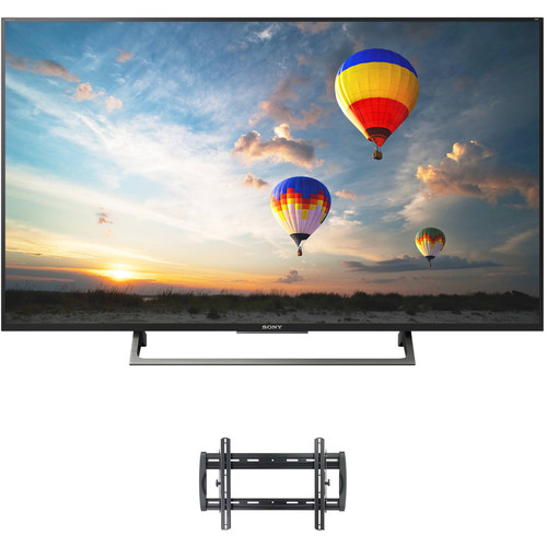 """Sony XBR-X800E-Series 55""""-Class HDR UHD Smart LED TV and Tilting Wall Mount Kit"""