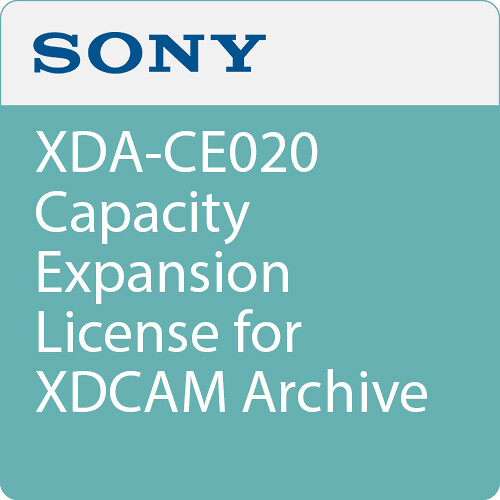 Sony XDA-CE020 Capacity Expansion License for XDCAM Archive System