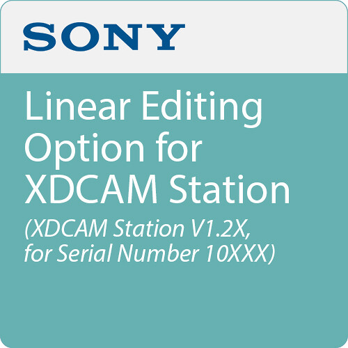 Sony Linear Editing Option for XDCAM Station (XDCAM Station V1.2X, for Serial Number 10XXX)