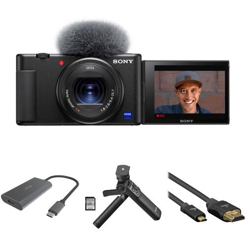 Sony ZV-1 Digital Camera with Home Streaming Kit (Black)