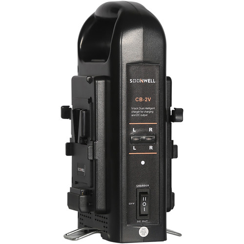 SOONWELL Dual Simultaneous Battery Charger with 4-Pin XLR Output (V-Mount)