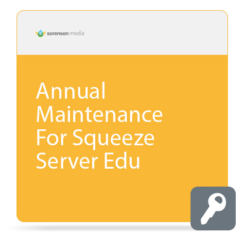 Sorenson Media Annual Maintenance for Squeeze Server (Education, Download)