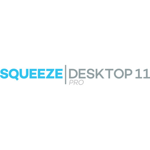 Sorenson Media Squeeze Desktop 11 Pro - Edu/Gov't/Non-Profit (Upgrade from Squeeze 8, 8.5, 9 Standard, Hard Copy)