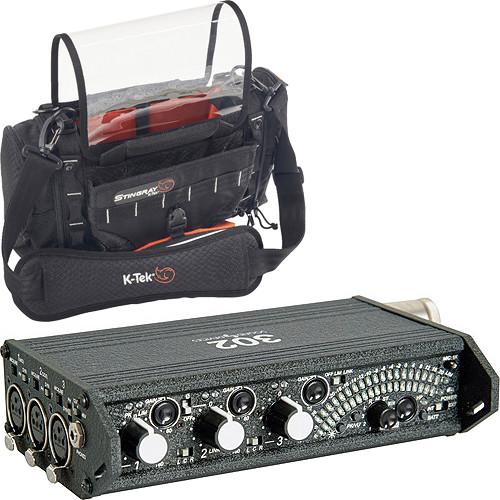 Sound Devices 302 Compact Production Mixer & Stingray Jr Audio Mixer Recorder Bag Kit