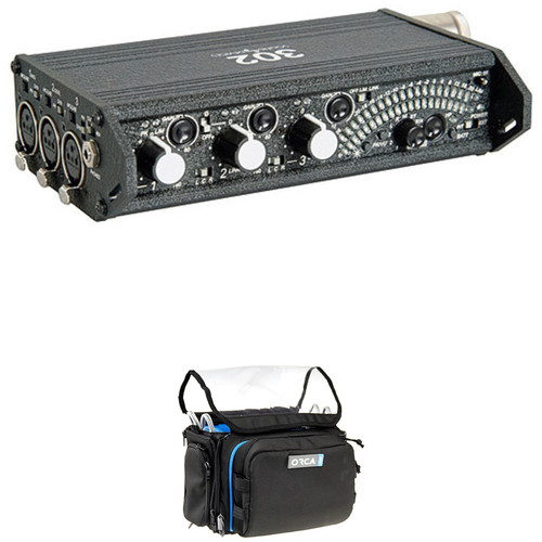 Sound Devices 302 Portable Sound Mixer Kit with Orca Mini Sound Bag