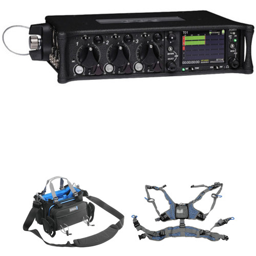 Sound Devices 633 6-Input Compact Field Mixer with Bag and Harness Kit