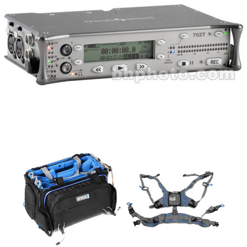 Sound Devices 702T High-Resolution CompactFlash Field Recorder with OR-32 Bag & Harness Kit