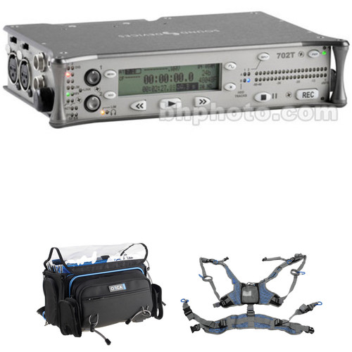 Sound Devices 702T High-Resolution CompactFlash Field Recorder with OR-41 Bag & Harness Kit