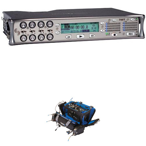 Sound Devices 788T-SSD 8-Input/12-Track Field Recorder with OR-34 Bag Kit