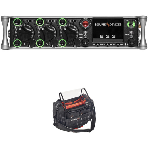 Sound Devices 833 8-Channel / 12-Track Multitrack Field Recorder with Audio Bag Kit