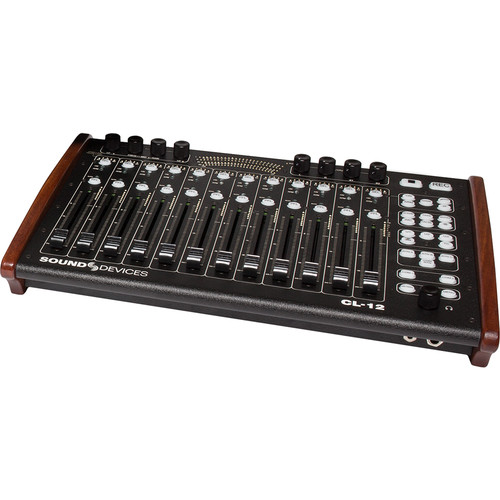 Sound Devices CL-12 Alaia Linear Fader Controller for 6-Series of Mixer/Recorders (Red Mahogany)