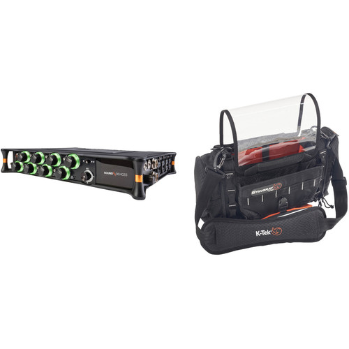 Sound Devices Mixpre-10T Audio Recorder with K-Tek Audio Bag Kit