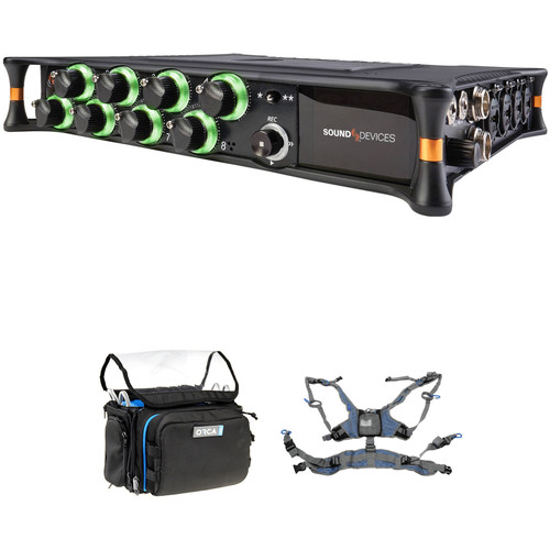 Sound Devices MixPre-10T Multi-Channel Audio Recorder with OR-28 Bag and Harness Kit