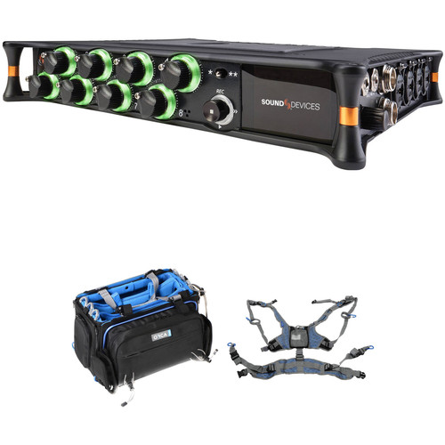 Sound Devices MixPre-10T Multi-Channel Audio Recorder with OR-32 Bag and Harness Kit
