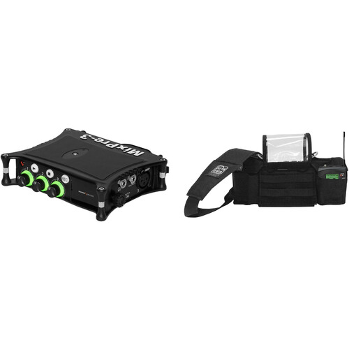 Sound Devices MixPre-3 II Kit with Multitrack 32-Bit Field Recorder & Porta Brace AR-MIXPRE3 Field Bag