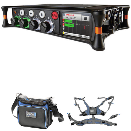 Sound Devices MixPre-6 Audio Recorder/Mixer and USB Interface with Sound Bag and Harness Kit