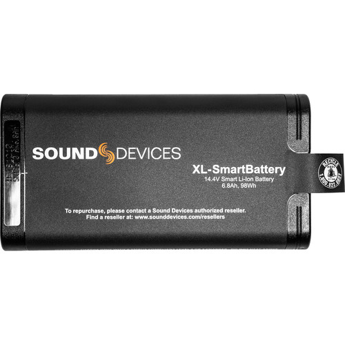 Sound Devices XL-SmartBattery Rechargeable Li-Ion Battery for Scorpio Mixer-Recorder