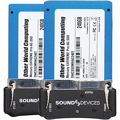 Video Devices XM-Caddy Pack - 2 SSDs with Caddies for PIX 220i/240i/250i/260i/270i & 970