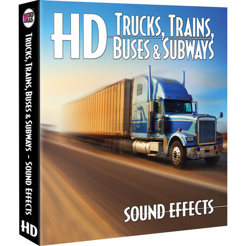 Sound Ideas Trucks /Trains / Buses / Subways HD Sound Effects Hard Drive